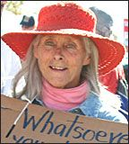Mary Burton Riseley is a fourth generation New Mexican, a Quaker and a war tax resister. She has been active in peace and anti-nuclear issues since 1970. She was the co-founder of the Los Alamos Study Group in 1990, and spent five weeks in Iraq with Voices in the Wilderness in the winter of 2003. She's a member of an agricultural land trust community on the Gila River in Cliff, New Mexico.