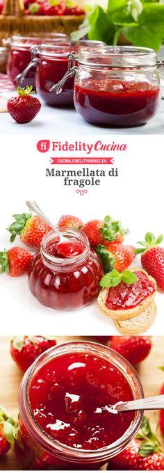 Marmellata di fragole Baking Basics, Beautiful Fruits, Homemade Sauce, Base Foods, Soul Food, Italian Recipes, Sweet Recipes, Chutney, Bakery