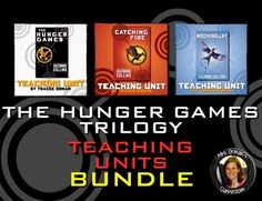 The Hunger Games, Catching Fire, and Mockingjay Teaching Units Digital Download BUNDLE  FINALLY! Buy all three of my best-selling Hunger Games Trilogy teaching units in ONE download.