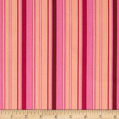 Art Gallery Feelings Stripes Candy from @fabricdotcom  From Art Gallery, cotton print is perfect for quilting, apparel and home decor accents. Colors include pink, magenta, peach, and burgundy. Art Gallery Fabric features 200 thread count of finely woven cotton.