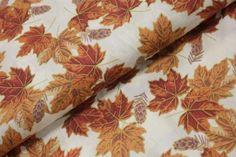 Podzimní listí na smetanové - zlatotisk