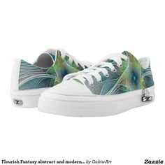 Flourish Fantasy abstract and modern Fractal Art Printed Shoes