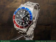 画像1: ロレックス ヴィンテージ GMT-MASTER Ref.1675 フチなしトリチウム 赤青ベゼル カシメブレス仕様