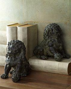 Two Antique Lion Statues at Horchow.