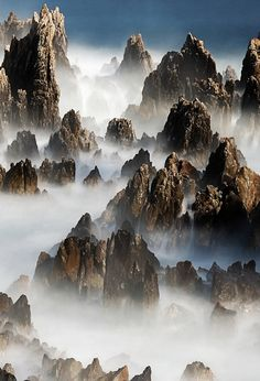 Misty mountains. I saw this photo and immediately a lovely dwarvish song in ringing bass tones started running through my head...