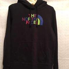 North Face hoodie Black North Face hoodie. Re-Posh. Tag is missing but fits like a small. Pilling inside. Mild fading. North Face Tops Sweatshirts & Hoodies
