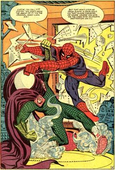 The Amazing Spider-Man art by Steve Ditko