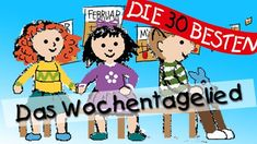 https://www.youtube.com/watch?v=k0zawwsQj_w: Lied: Die 30 besten Wissenslieder für Kinder, Das Wochentagelied, Struktur, Ablauf, Lieder, Rituale, CD, mehrere Lieder von dieser CD bei Youtube