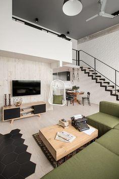 moderne wohnung-wohnzimmer schwarz-weiß-bibliothek bücherregale ...