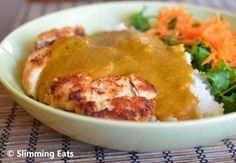 Slimming Eats Chicken Katsu Curry - dairy free, Slimming World and Weight Watchers friendly