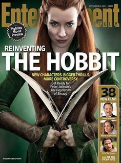 Tauriel cover. Twitter / TheHobbitMovie: @EW subscribers will be receiving this #Tauriel cover!