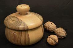 Walnut and alder wood combination handturned by SimosWoodturns, €60.00