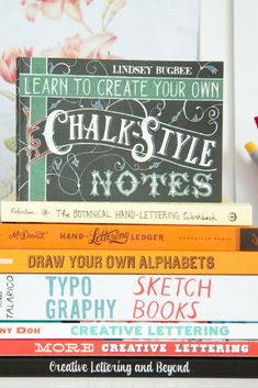 Hand Lettering Resources To Get You Started! My fave hand lettering books With practice, you won't need to start with pencil and eraser but it is advised as mistakes do happen. After sharing so many of my favourite Lettering Resources recently, I thought it was high time I shared everything I use and the best tools for hand lettering practice. - Learn To Letter: A Mini guide to the best tools for hand lettering