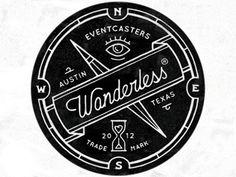 badge + vintage + typography + black