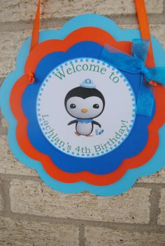 Octonauts Door Sign by mlf465 on Etsy, $12.50