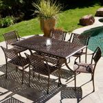 Tahoe 7-piece Cast Outdoor Dining Set