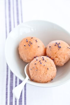 Peach sorbet with lavender
