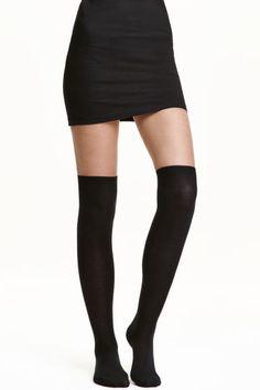Lot de 2 paires de chaussettes: Chaussettes en maille fine montant au-dessus du genou.