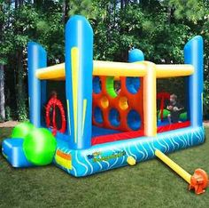 Bounce House Outdoor Game Dodgeball Inflatable Jumping Bouncer Kids Play Blower Only 1 In Stock Order Today! Product Description: This Jump'n Dodgeball inflatable bouncer is constructed of a durable 3 Outdoor Toys, Outdoor Games, Outdoor Play, Outdoor Ideas, Outdoor Activities, Inflatable Bounce House, Inflatable Bouncers, Bouncy House, Got Party