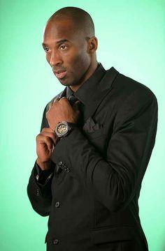Kobe Bryant wearing the Hublot King Power Black Mamba