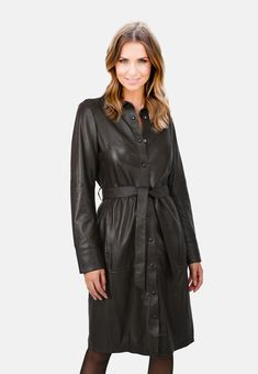 Long Leather Coat, Boots, Jackets, Fashion, Crotch Boots, Down Jackets, Moda, Fashion Styles, Shoe Boot