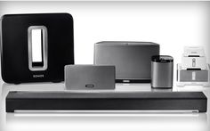 What is Sonos? And what's the best way to build a wireless multi-room Sonos system? We explain the Sonos speaker ecosystem. Bluetooth, Sonos Wireless, Sonos App, Sonos Speakers, Portable Speakers, Sonos Music, Outdoor Speakers, Logitech, Bose