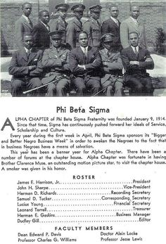 Alpha Chapter 1933 by bluephi.net, via Flickr  Pictured with his fraternity brothers of Phi Beta Sigma, is Alain Locke, the first African-American Rhodes Scholar.  Locke was known to have been greatly influenced and encouraged by sorority sister of Zeta Phi Beta, Zora Neale Hurston.