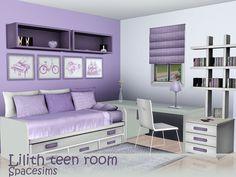 spacesims' Lilith teen room Teenage Girl Bedroom Designs, Teen Girl Rooms, Teenage Girl Bedrooms, Kids Bedroom Sets, Girls Bedroom, Bedroom Decor, Bedroom Ideas, Tomboy Bedroom, Master Bedroom