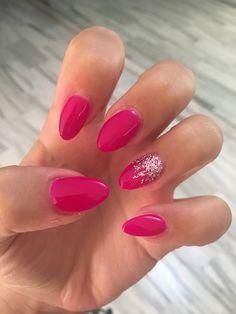 Sparkle Nail Designs, Pink Nail Designs, Sparkle Nails, Simple Nail Designs, Pink Nails, Gel Nails, Acrylic Nails, Trendy Nails, Cute Nails