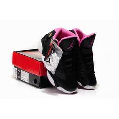 7dc2c4923be Women Air Jordan 13 Bred Black White Pink Air Jordan 13 Bred