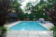 L-shaped pool, I like the concrete around the pool