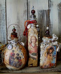 Altered Bottles | Explore Zinnia_Treasures' photos on Flickr… | Flickr - Photo Sharing!