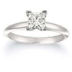 The wedding band, IGI Certified Platinum Princess-Cut Diamond Solitaire Engagement Ring (1 cttw, G-H Color, VS2 Clarity) REVIEW