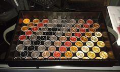 Bandeja Decorada Com Cápsulas De Café Nespresso Recicladas. - R$ 180,00