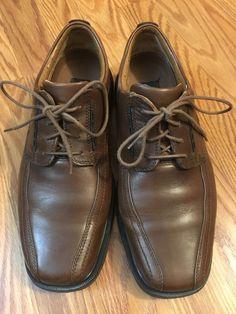e7c582820fe BASS Mens Sz 8 M Brown Leather Dress Lace Up Oxford Cap Toe Shoe  Unstructured