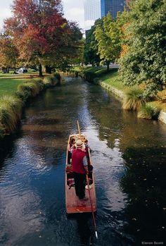 Christchurch, NZ- punting on the Avon