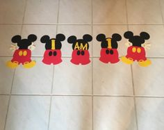 Mickey Birthday Banner by KrissysCraftBoutique on Etsy