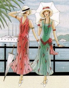 Hats & Hollywood Glamour Judit Garza This looks like a dresses drawn in the style of the to me. Pinturas Art Deco, Moda Art Deco, Art Deco Cards, Art Deco Paintings, Vintage Outfits, Vintage Fashion, Retro Mode, Art Deco Posters, Moda Vintage