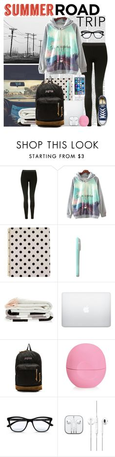 """""""Summer Road Trip"""" by awesomepancakeunicorn ❤ liked on Polyvore featuring Topshop, Kate Spade, JanSport, Eos, STELLA McCARTNEY, Converse and roadtrip"""