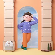 Daily Illustrations on Behance 3d Model Character, Character Concept, Character Art, Food Graphic Design, Graphic Design Posters, 3d Design, Zbrush, Mascot Design, Modelos 3d