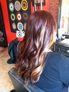 Red and blonde ombré!