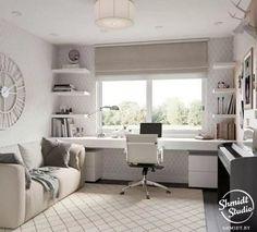 Home Office Design, Home Office Decor, Home Decor, Office Ideas, Office Designs, Desk Layout, Design Apartment, Apartment Interior, Interior Office