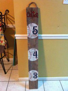 baseball nursery | Baseball Themed Nursery Decor: Personalized Baseball Ruler Growth ...