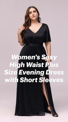 Plus Size Gowns, Evening Dresses Plus Size, Ever Pretty, Short Dresses, Formal Dresses, Plus Size Beauty, Plus Size Fashion, Sexy Women, Short Sleeves