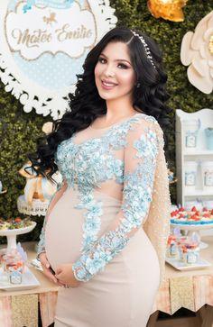 Maternity Dresses For Photoshoot, Winter Maternity Outfits, Maternity Dresses For Baby Shower, Maternity Gowns, Pregnancy Outfits, Mom Outfits, Maternity Fashion, Blue Baby Shower Dress, Baby Shower Favors Girl