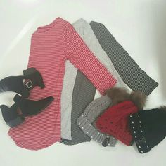 Striped tops  $9.99 + button beanies... $7.99 + black booties  $24.99...throw on a pair of jeans, and you're set! #stripes #beanie #booties #style #ootd #newarrivals #ogden #northogden #love #l4l #utah #utahboutique #musthave #fashionista #shopbellame