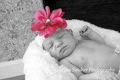 Beautiful baby girl in her first photoshoot