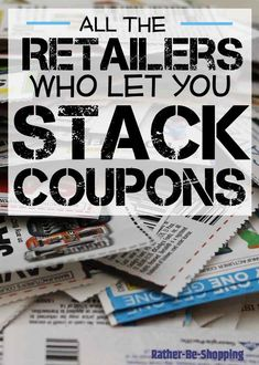 How to Stack Coupons to Maximize Savings: Which Retailers Let You Stack Coupons - wow!, this post has a ton of info on the art of stacking coupons! Lots of stores are listed, their rules on stacking coupons and tips on how to maximize your savings - via How To Start Couponing, Couponing For Beginners, Couponing 101, Extreme Couponing, Save Money On Groceries, Ways To Save Money, Money Saving Tips, Money Tips, Groceries Budget