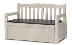 Outdoor Storage Bench Box Patio Seat Waterproof Deck Backyard Garden Seating