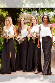Two Piece Bridesmaid Dresses, Wedding Dresses, Jade Couture, Slit Skirt, Wedding Bridesmaids, Chiffon Dress, A Line Skirts, Fit And Flare, Nice Dresses